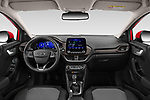Stock photo of straight dashboard view of 2020 Ford Puma Titanium-X 5 Door SUV Dashboard