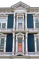 Petaluma CA: Italianate Cast Iron--detail.  Photo '83.