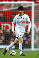 Ki Sung-Yueng of Swansea City during the Premier League match between Manchester United and Swansea City at the Old Trafford, Manchester, England, UK. Saturday 31 March 2018