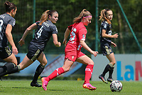 Auke Swevers (4) of OHL and Davinia Vanmechelen (25) of Standard in action during a female soccer game between Standard Femina de Liege and Oud Heverlee Leuven on the 10th and last matchday in play off 1 of the 2020 - 2021 season of Belgian Scooore Womens Super League , saturday 29 th of May 2021  in Angleur , Belgium . PHOTO SPORTPIX.BE   SPP   SEVIL OKTEM