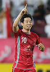 Qatar's Lekhwiya player Nam Tae Hee celebrate  after scoring a goal against  Iran's Persepolis  during their AFC Champions League soccer match at Abdullah bin Khalifa Stadium  in Doha April 22, 2015.  REUTERS/Fadi Al-Assaad