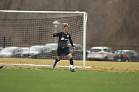 LOUISVILLE, KY - MARCH 13: Yuki Nagasato #17 of Racing Louisville FC runs the ball up the field during a game between West Virginia University and Racing Louisville FC at Thurman Hutchins Park on March 13, 2021 in Louisville, Kentucky.