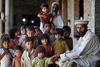 Gujar Gabral, a refugee from Swat district. He and his 77 relatives have taken refuge in a derelict house in Swabi district. The Pakistani government began an offensive against the Taliban in the Swat Valley in April 2009, which led to a major humanitarian crisis. Up to two million civilians were estimated to have been displaced by the fighting.