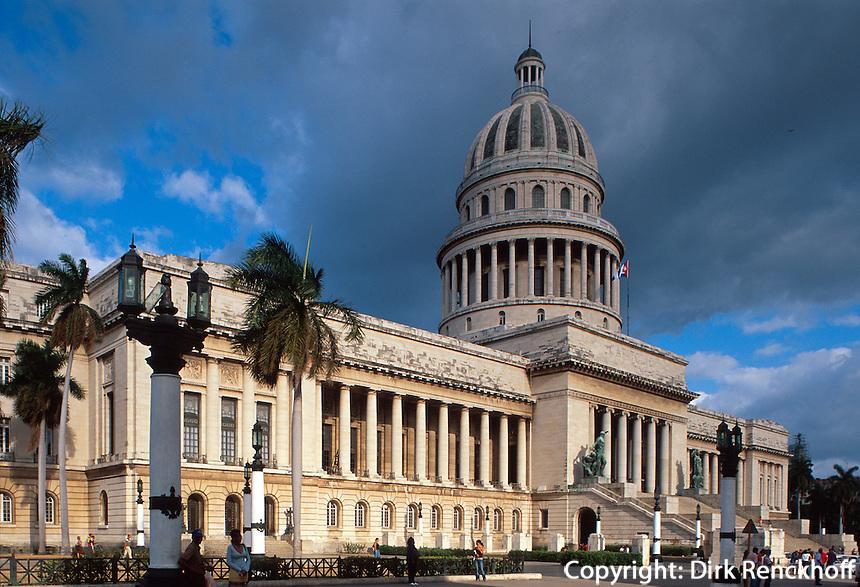 Cuba, Capitolio am Paseo de Marti (Prado) in Habana, Unesco-Weltkulturerbe