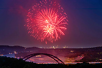 A favorite of Austin locals is to go watch the 4th of July fireworks from the panoramic view at the 360 Pennybacker Bridge Overlook