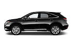 Car Driver side profile view of a 2015 Lexus RX F Sport 5 Door SUV 2WD Side View