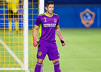 CARSON, CA - SEPTEMBER 06: David Bingham #1 GK of the Los Angeles Galaxy during a game between Los Angeles FC and Los Angeles Galaxy at Dignity Health Sports Park on September 06, 2020 in Carson, California.
