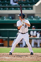 Detroit Tigers Luke Burch (58) at bat during a Florida Instructional League game against the Pittsburgh Pirates on October 6, 2018 at Joker Marchant Stadium in Lakeland, Florida.  (Mike Janes/Four Seam Images)