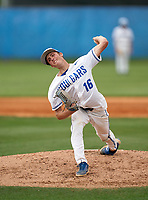 Barron Collier Cougars pitcher Jacob Marlowe (16) during the IMG National Classic on March 29, 2021 at IMG Academy in Bradenton, Florida.  (Mike Janes/Four Seam Images)
