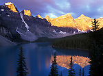 Moraine Lake at First Light, Banff NP, Alberta, Canada