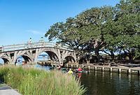 People enjoying outdoor activities at Currituck Heritage Park, Corolla, Outer Banks, North Carolina, USA