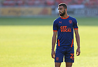 Blackpool's CJ Hamilton wears the all new 'Get Local' sponsored third kit<br /> <br /> Photographer Rich Linley/CameraSport<br /> <br /> The EFL Sky Bet League One - Crewe Alexandra v Blackpool - Saturday 17th October 2020 - Gresty Road - Crewe<br /> <br /> World Copyright © 2020 CameraSport. All rights reserved. 43 Linden Ave. Countesthorpe. Leicester. England. LE8 5PG - Tel: +44 (0) 116 277 4147 - admin@camerasport.com - www.camerasport.com