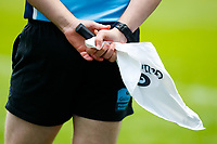 27th March 2021; Ricoh Arena, Coventry, West Midlands, England; English Premiership Rugby, Wasps versus Sale Sharks; Detail of a touch judge's flag