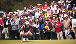 TAOYUAN, TAIWAN - OCTOBER 21: Yani Tseng of Taiwan lines up a putt on the 1st green during day two of the LPGA Imperial Springs Taiwan Championship at Sunrise Golf Course on October 21, 2011 in Taoyuan, Taiwan. (Photo by Victor Fraile/Getty Images)