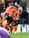 :: DUNDEE UTD'S DAVID GOODWILLIE CELEBRATES AFTER SCORING UNITED'S FIRST ::
