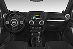 Stock photo of straight dashboard view of a 2015 JEEP Wrangler Rubicon 3 Door Suv 4WD Dashboard