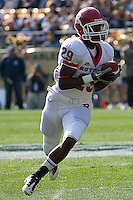 Rutgers running back Jordan Thomas. The Pittsburgh Panthers defeated the Rutgers Scarlet Knights 41-21 on October 23, 2010 at Heinz Field, Pittsburgh, Pennsylvania....