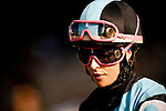 Jockey, Chantal Sutherland before the Clement L. Hirsch Stakes at Del Mar Race Course in Del Mar, California on August 4, 2012.