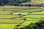 Great Britain, England, North Yorkshire, Yorkshire Dales National Park, Gunnerside: Dry stone walls and barns in Swaledale | Grossbritannien, England, North Yorkshire, Yorkshire Dales National Park, Gunnerside:  Trockenmauern und Scheunen in Swaledale