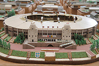 BNPS.co.uk (01202 558833)<br /> Pic: Zachary Culpin/BNPS<br /> <br /> Pictured: The old Wembley Stadium<br /> <br /> An incredible collection of model football stadiums handmade by a soccer fan have sold for almost £19,000 after being found in a storage unit.<br /> <br /> Model-maker John Le Maitre created miniature versions of all 92 English Football League club grounds from the 1980s, as well as the old Wembley Stadium.<br /> <br /> They featured on a Blue Peter episode that year and are a throwback to a bygone age when football grounds with their banks of terraces looked very different to today's super stadiums.