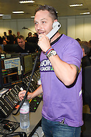 Tom Hardy<br /> on the trading floor for the BGC Charity Day 2016, Canary Wharf, London.<br /> <br /> <br /> ©Ash Knotek  D3152  12/09/2016