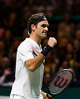 Rotterdam, The Netherlands, 17 Februari, 2018, ABNAMRO World Tennis Tournament, Ahoy, Tennis, Semi final single, Andreas Seppi (ITA), Roger Federer (SUI)<br /> <br /> Photo: www.tennisimages.com