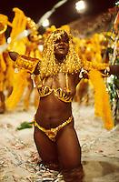 Disabled black woman dancing at Carnival Samba Schools Parade