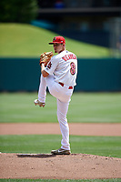 Memphis Redbirds starting pitcher Luke Weaver (8) delivers a pitch during a game against the Iowa Cubs on May 29, 2017 at AutoZone Park in Memphis, Tennessee.  Memphis defeated Iowa 6-5.  (Mike Janes/Four Seam Images)