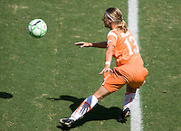 Sky Blue FC midfielder Noelle Keselica moves to the ball. The Sky Blue FC defeated the LA Sol 1-0 to win the WPS Final Championship match at Home Depot Center stadium in Carson, California on Saturday, August 22, 2009...