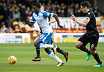 Motherwell v St Johnstone…05.05.18…  Fir Park    SPFL<br />Matty Willock gets between Carl Mchugh and<br />Picture by Graeme Hart. <br />Copyright Perthshire Picture Agency<br />Tel: 01738 623350  Mobile: 07990 594431