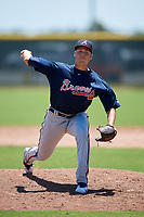 Atlanta Braves pitcher Zach Seipel (11) during a Minor League Extended Spring Training game against the Tampa Bay Rays on April 15, 2019 at CoolToday Park Training Complex in North Port, Florida.  (Mike Janes/Four Seam Images)