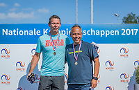 Etten-Leur, The Netherlands, August 27, 2017,  TC Etten, NVK, Winner men's 50+ , Niels de Kok (L) and runner up Rob Simon<br /> Photo: Tennisimages/Henk Koster