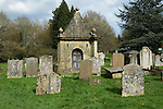 The mausoleum of Henry Streathfield 1706-1762 of High Street House, now Chiddingstone Castle in the church yard of St Mary the Virgin church Chiddingstone Kent UK. One of the earliest mausoleums built in the UK. 2013