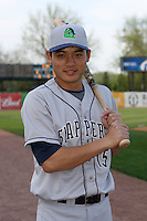 April 11 2010: Lin Wang-Wei of the Beloit Snappers at Elfstrom Stadium in Geneva, IL. The Snappers are the Low A affiliate of the Minnesota Twins. Photo by: Chris Proctor/Four Seam Images