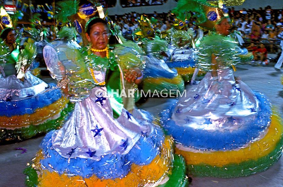 Desfile de carnaval da Caprichosos, Rio de Janeiro. 1987. Foto de Juca Martins.