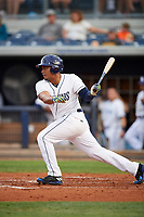 Charlotte Stone Crabs designated hitter David Rodriguez (10) at bat during a game against the Palm Beach Cardinals on April 11, 2017 at Charlotte Sports Park in Port Charlotte, Florida.  Palm Beach defeated Charlotte 12-6.  (Mike Janes/Four Seam Images)
