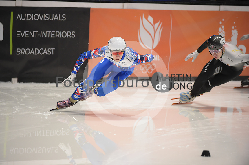 SPEEDSKATING: DORDRECHT: 06-03-2021, ISU World Short Track Speedskating Championships, SF 500m Men, Konstantin Ivliev (RSU), ©photo Martin de Jong
