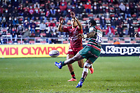 26th September 2020; Toulon, France; European Challenge Cup Rugby, semi-final; RC Toulon versus Leicester Tigers;  Kini Murimurivalu kicks for field position for Leicester