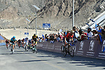 Sonny Colbrelli (ITA) Bahrain-Merida powers up the Hatta Dam climb to win Stage 4 The Municipality Stage of the Dubai Tour 2018 the Dubai Tour's 5th edition, running 172km from Skydive Dubai to Hatta Dam, Dubai, United Arab Emirates. 9th February 2018.<br /> Picture: LaPresse/Massimo Paolone | Cyclefile<br /> <br /> <br /> All photos usage must carry mandatory copyright credit (© Cyclefile | LaPresse/Massimo Paolone)
