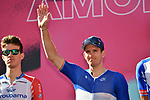 French Champion Arnaud Demare (FRA) Groupama-FDJ at sign on before the start of Stage 6 of the 103rd edition of the Giro d'Italia 2020 running 188km from Castrovillari to Matera, Sicily, Italy. 7th October 2020.  <br /> Picture: LaPresse/Massimo Paolone | Cyclefile<br /> <br /> All photos usage must carry mandatory copyright credit (© Cyclefile | LaPresse/Massimo Paolone)