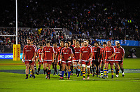 The Barbarians walk in before the 2017 DHL Lions Series rugby union match between the NZ Provincial Barbarians and British & Irish Lions at Toll Stadium in Whangarei, New Zealand on Saturday, 3 June 2017. Photo: Dave Lintott / lintottphoto.co.nz