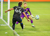 CARSON, CA - OCTOBER 14: Jonathan Klinsmann #33 GK of the Los Angeles Galaxy and Cade Cowell #44 of the San Jose Earthquakes during a game between San Jose Earthquakes and Los Angeles Galaxy at Dignity Heath Sports Park on October 14, 2020 in Carson, California.