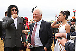 Gene Simmons of KISS fame with Frank Stronach before the 138th  running of the Grade I Preakness Stakes for 3-year olds, going 1 3/16 mile, at Pimlico Race Course.  Trainer D. Wayne Lukas.  Owners Calumet Farms