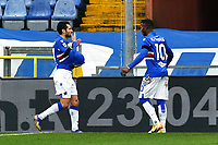 Antonio Candreva of UC Sampdoria celebrates with Keita Balde after scoring the goal of 1-0 during the Serie A football match between UC Sampdoria and FC Internazionale at stadio Marassi in Genova (Italy), January 6th, 2021. <br /> Photo Daniele Buffa/Image Sport / Insidefoto