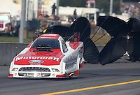 Oct 6, 2013; Mohnton, PA, USA; NHRA funny car driver Bob Tasca III during the Auto Plus Nationals at Maple Grove Raceway. Mandatory Credit: Mark J. Rebilas-