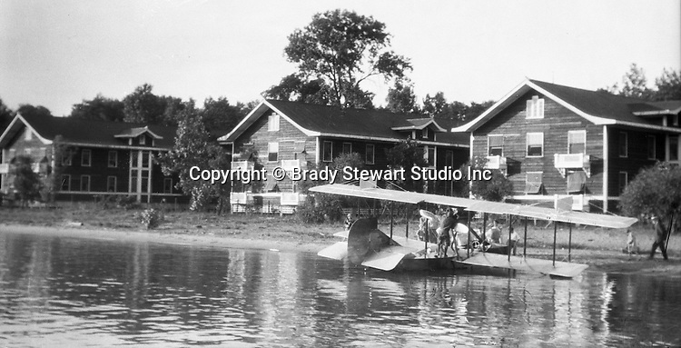 Presque Isle PA:  Mail delivery by a Canadian Vickers seaplane. the Stewart family was on vacation at Lake Erie's Presque Isle in the summer of 1927.