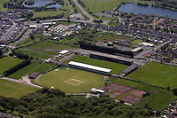 Aerial view of Stradey Park in Llanelli west Wales