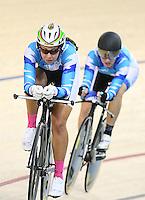 at the BikeNZ Elite & U19 Track National Championships, Avantidrome, Home of Cycling, Cambridge, New Zealand, Sunday, March 16, 2014.  Photo: Dianne Manson / photosport.co.nz