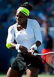 Serena Williams of the US at the Western & Southern Open in Mason, OH on August 17, 2012.