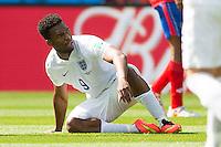 Daniel Sturridge of England looks dejected